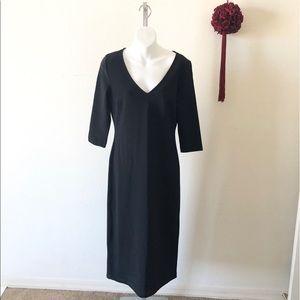 Boston Proper 3/4 Sleeve V-Neck Dress